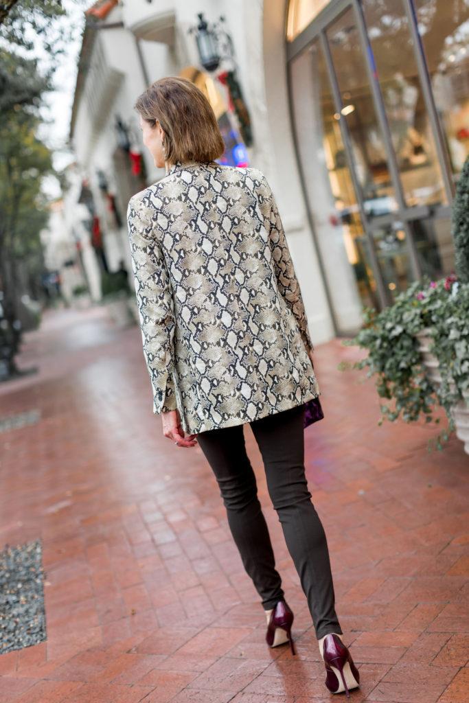 Zara snakeskin blazer now on sale