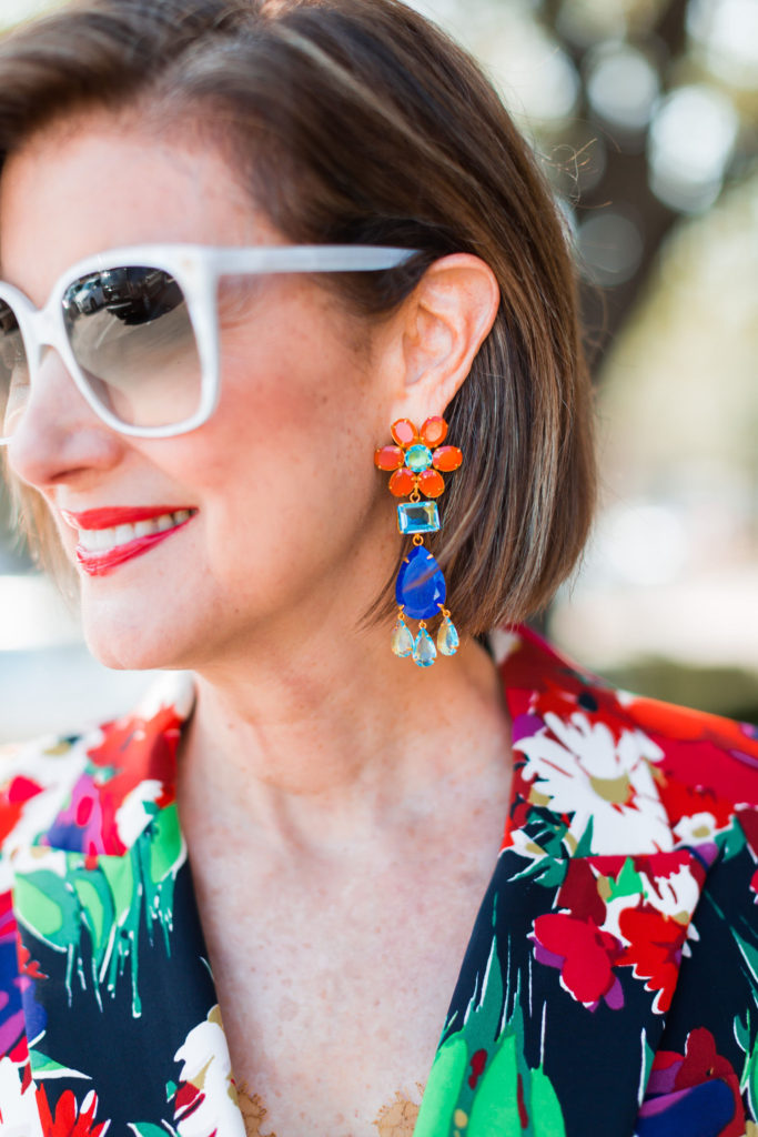 Bold-spring-trends from Tootsies Dallas Bounkit earrings and Gucci sunnies