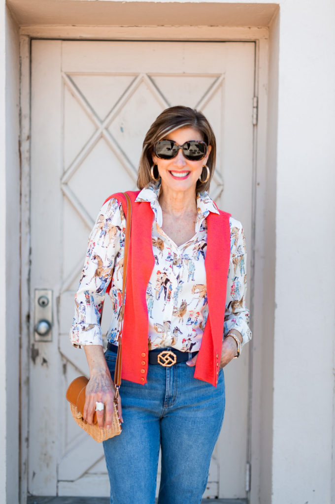 fashion blogger wearing silver ring from Brenda Schoenfeld