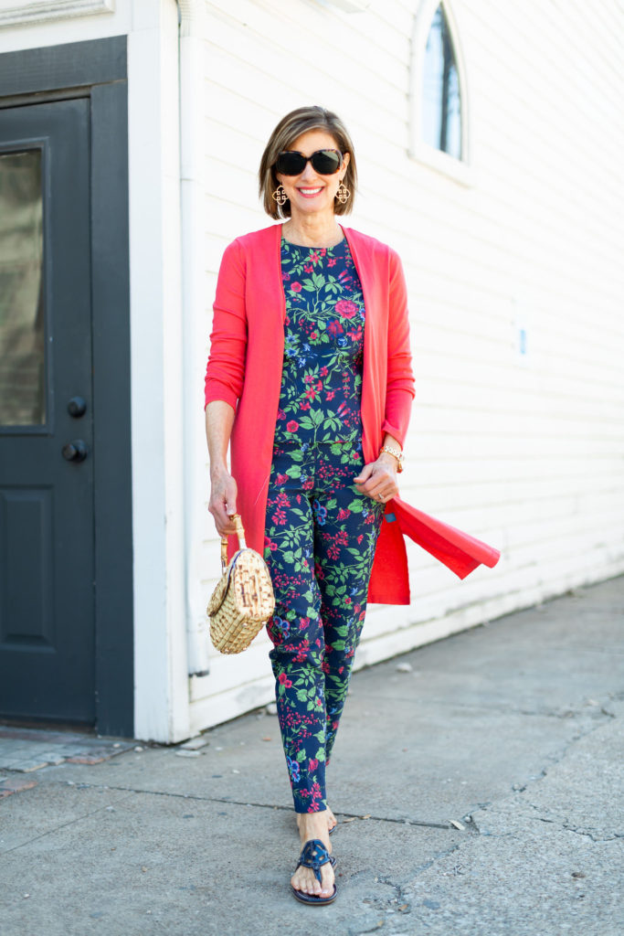 Over 50 blogger in matching set