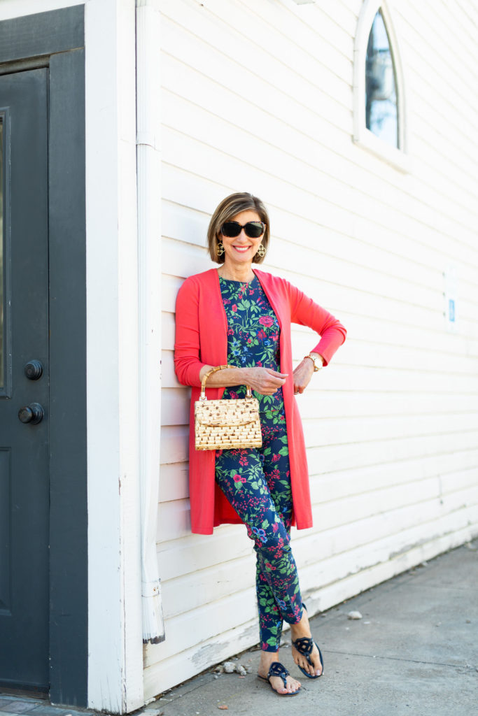 J.Mclaughlin top handle bamboo purse on dallas blogger