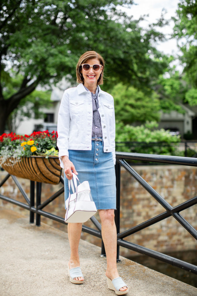 White denim jacket from ann taylor