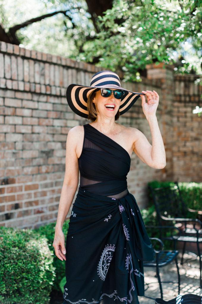wide brimmed hat for over 50 skin care