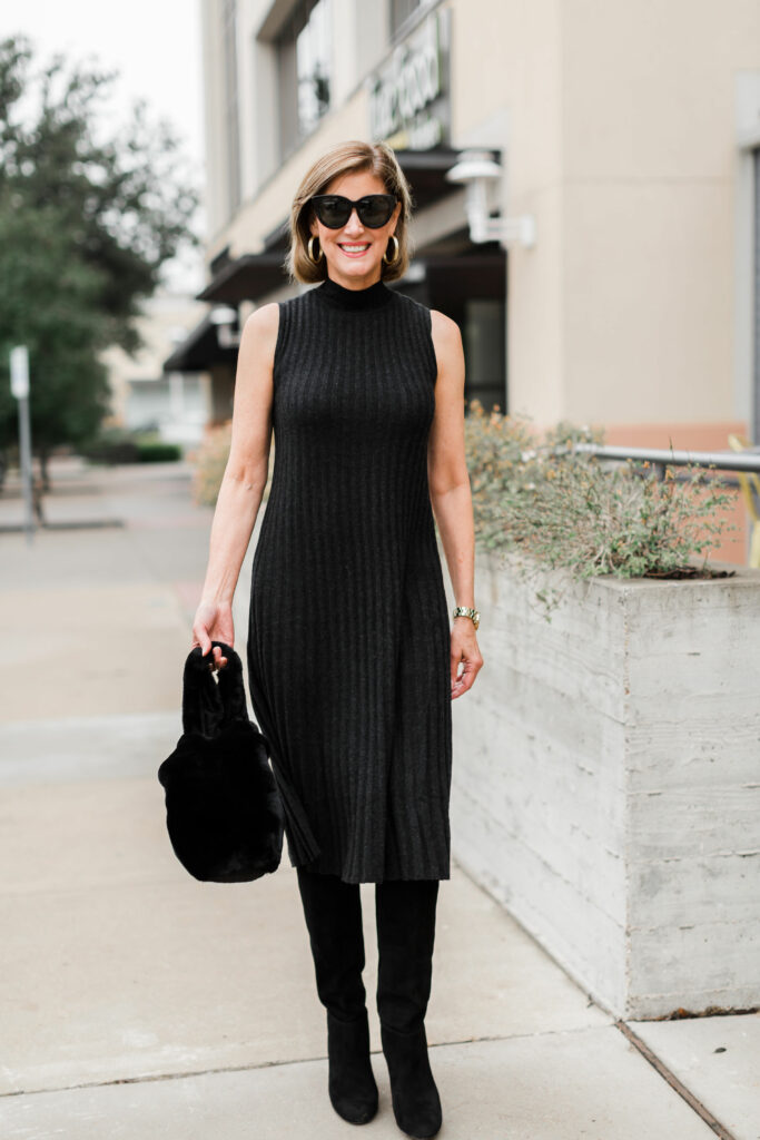 Cashmere LBD from J.Mclaughlin Luxe Collection
