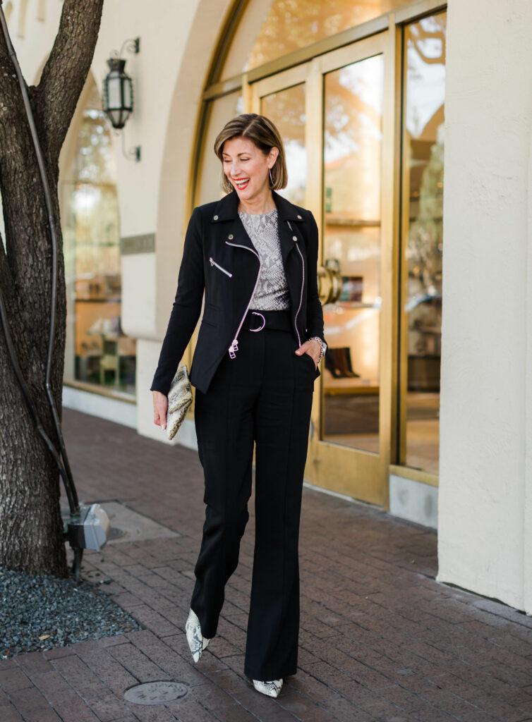 Snakeskin Bette bootie from Schutz on Fashionomics founder