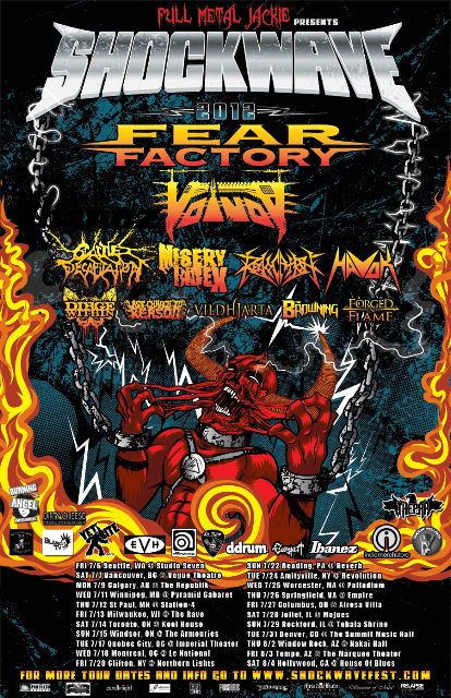 Enter to Win Tickets to Shockwave Festival 2012 feat Fear Factory