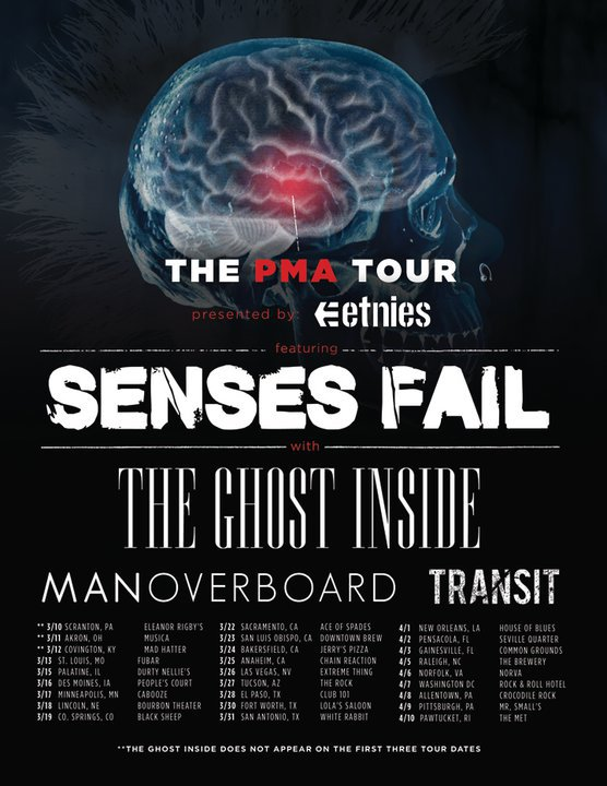 The PMA Tour feat Senses Fail – REVIEW
