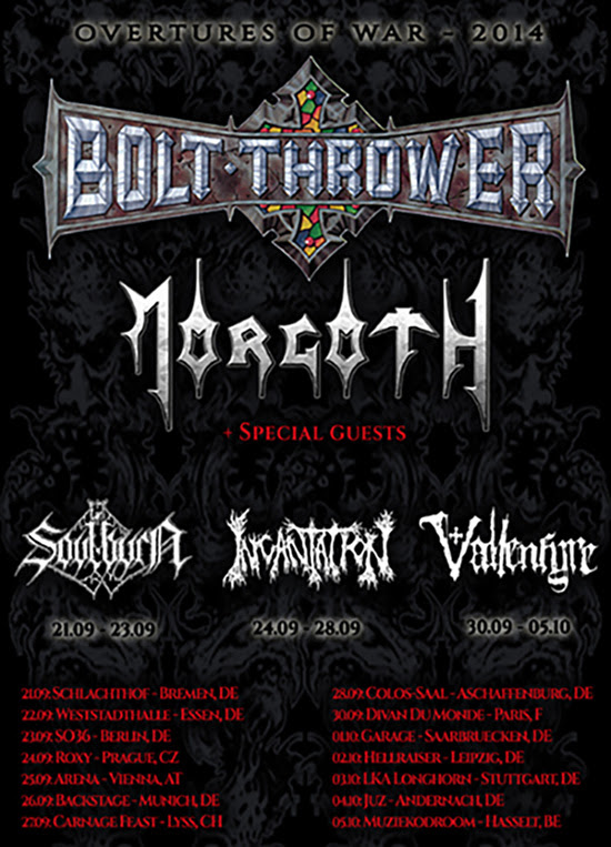 Overtures of War Tour 2014 - poster