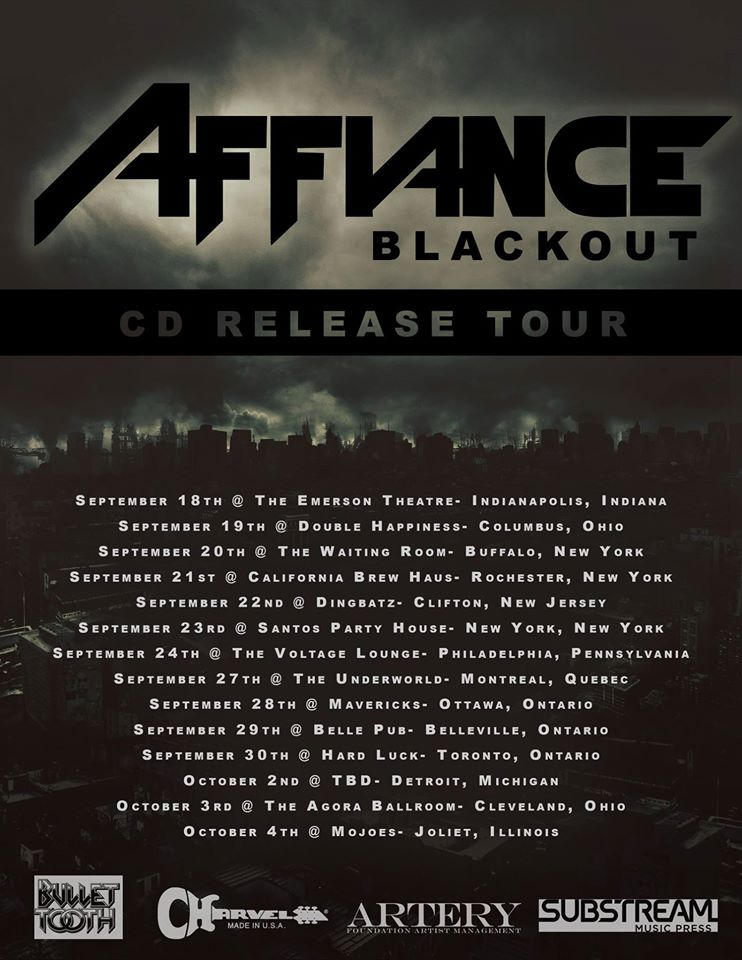 Affiance CD Release Tour - poster