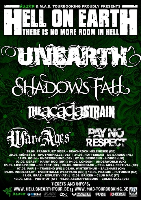 Hell On Earth Tour - poster