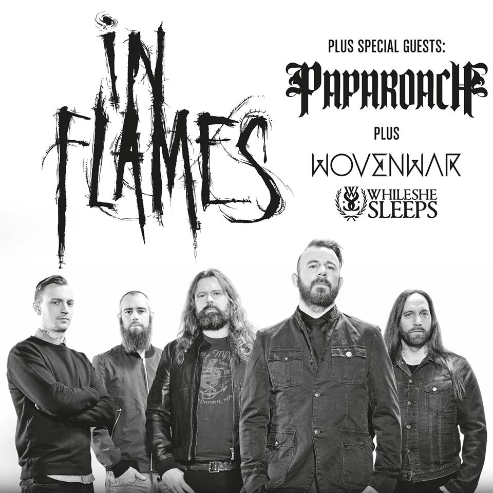 In Flames 2014 EU Tour-poster