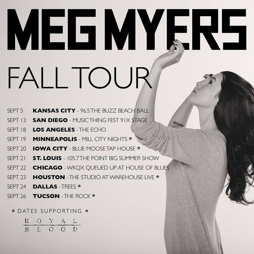 Meg Myers Fall Tour 2014 - poster