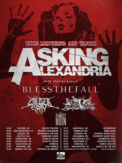 Asking Alexandria The Moving On Tour - poster