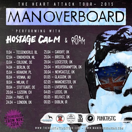 Man Overboard The Heart Attack Tour 2015 - poster