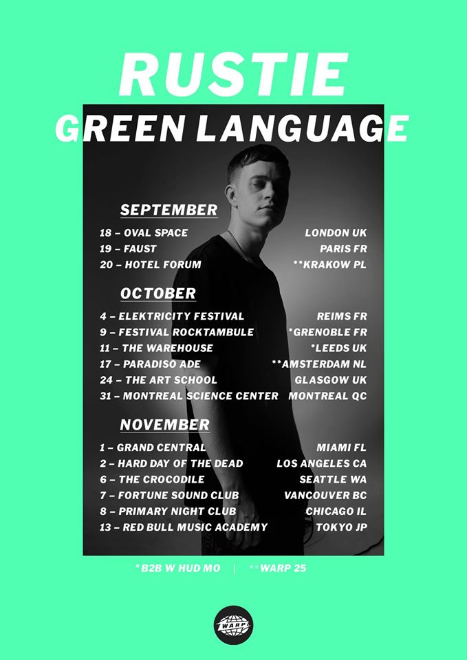 Rustie Green Language International Tour 2014 - poster