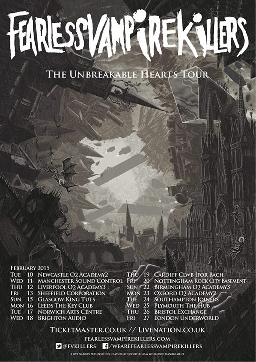 Fearless Vampire Killers The Unbreakable Hearts Tour UK - poster