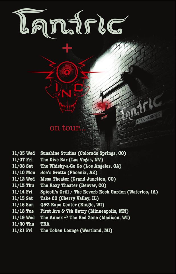 I.N.C. And Tantric U.S. Tour 2014 - poster