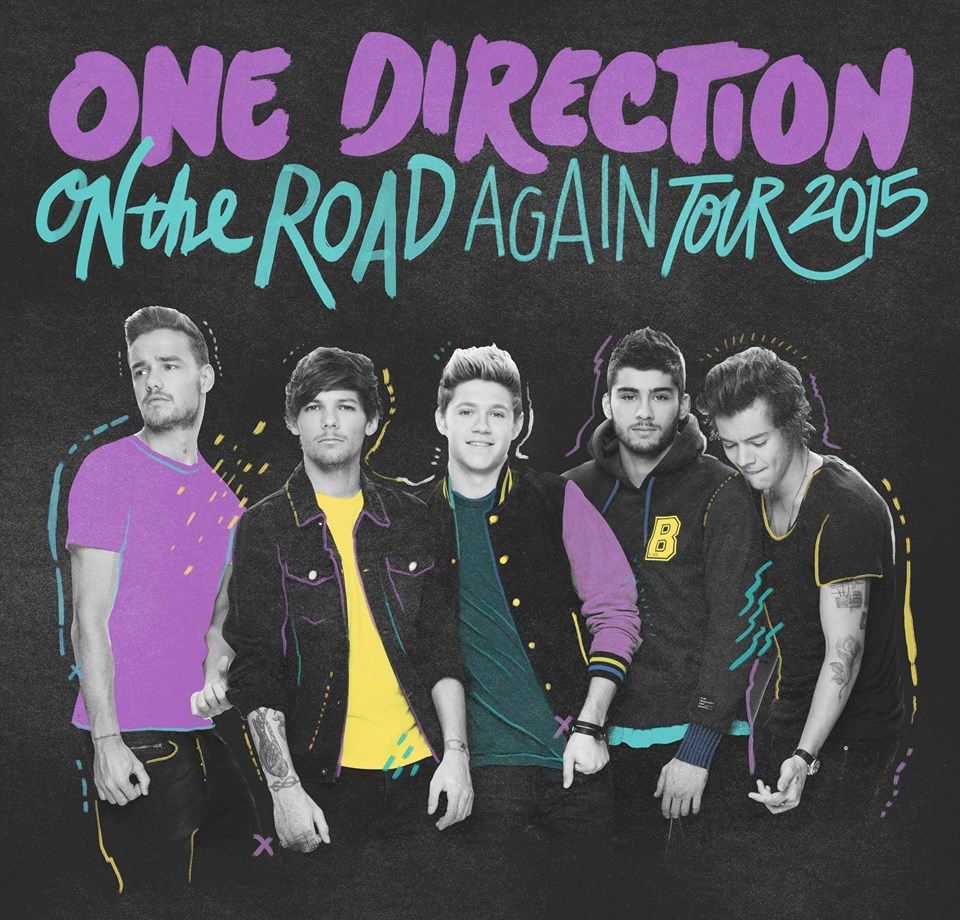 One Direction - On The Road Again 2015 Tour - poster