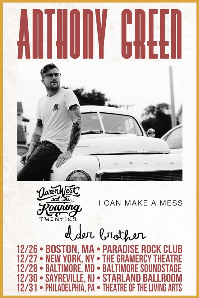 Anthony Green - East Coast Solo Tour 2014 - poster