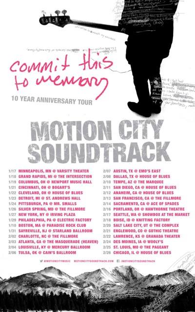 Motion City Soundtrack - Commit This To Memory Tour - poster