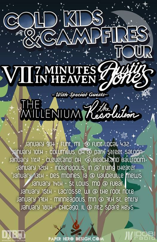 7 Minutes In Heaven and Austin Jones - Cold Kids and Campfires Tour - poster