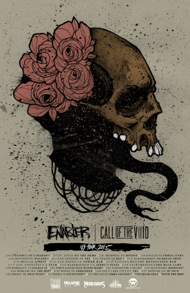 Enabler - Coheadlining North American 2015 Tour With Call Of the Void - poster