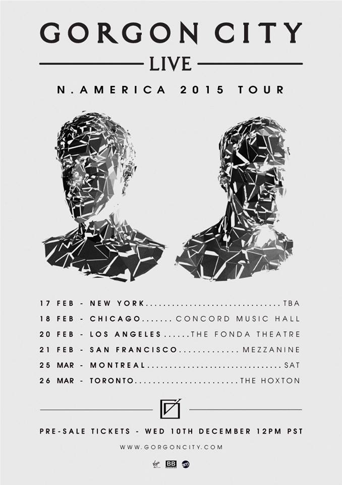 Gorgon City - North American Winter 2015 Tour - poster