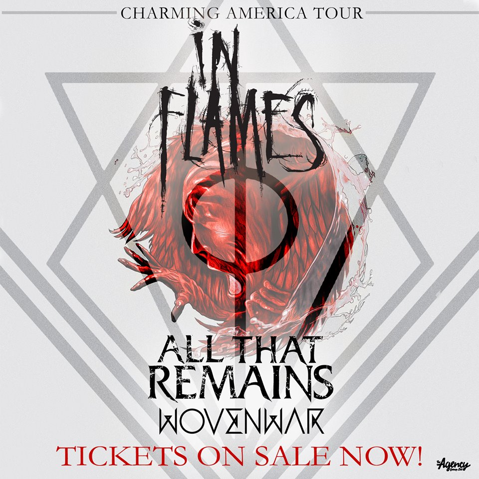 In Flames - Charming America Tour - poster