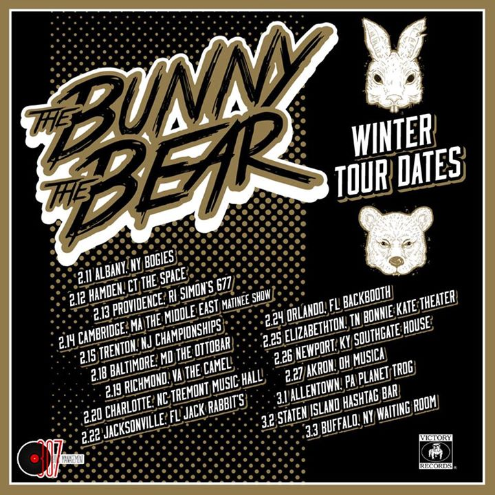 The Bunny The Bear - Winter 2015 U.S. Tour - poster