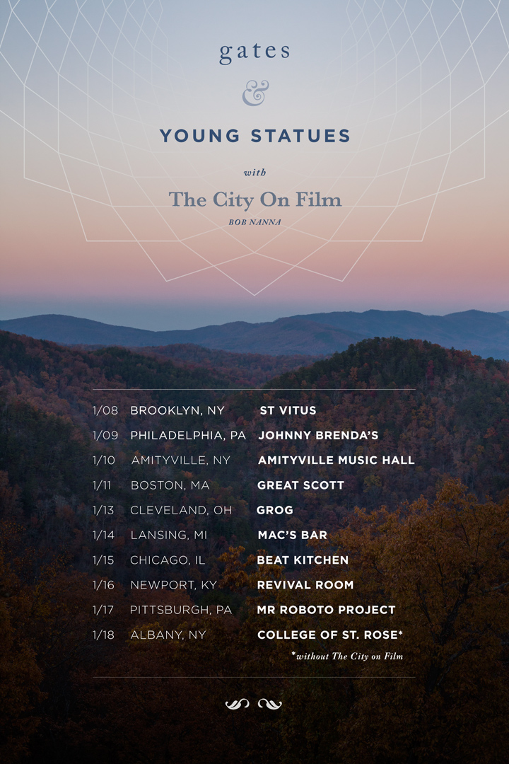 Young Statues and Gates - U.S. Tour Winter 2015 - poster