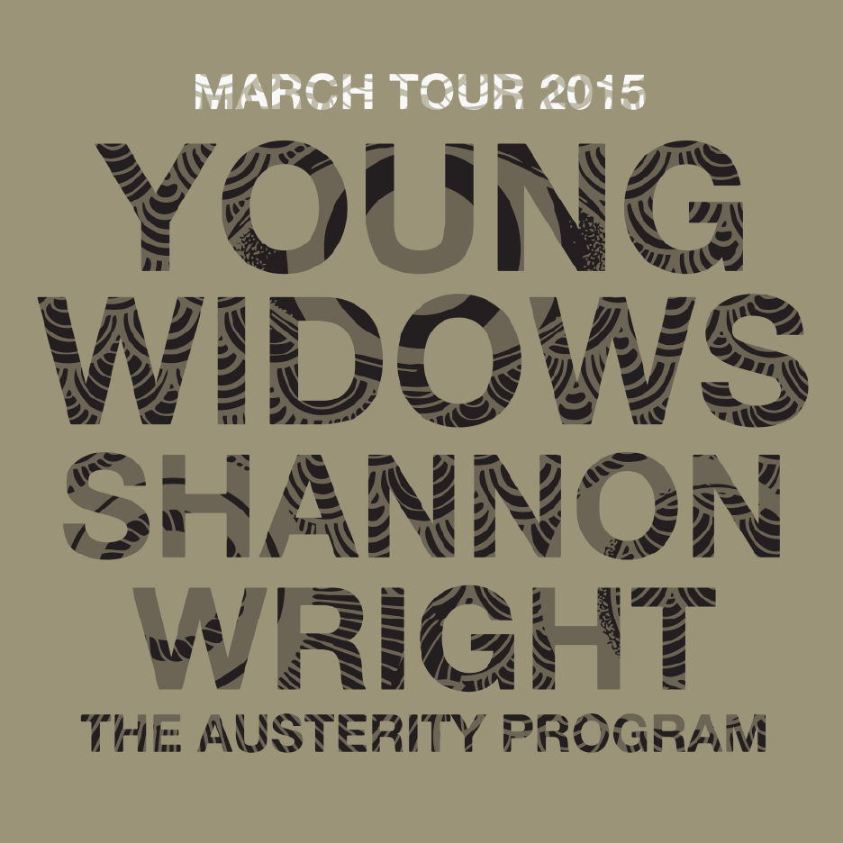 Young Widows - March U.S. Tour 2015 - poster