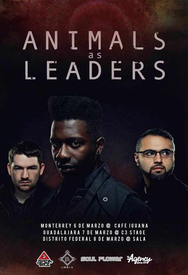 Animals As Leaders - Mexico Tour - 2015 - Poster