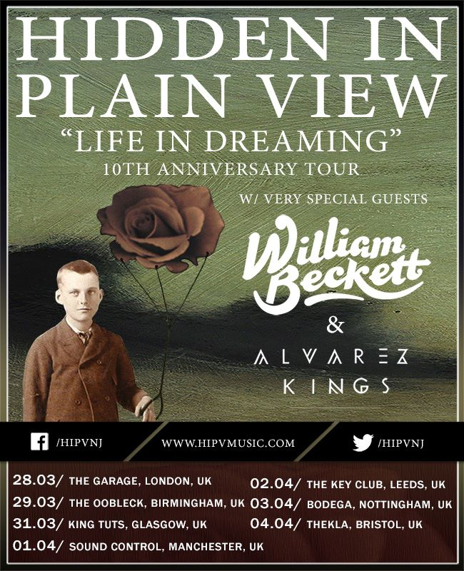 Hidden In Plain View - Life In Dreaming 10th Anniversary Tour - poster