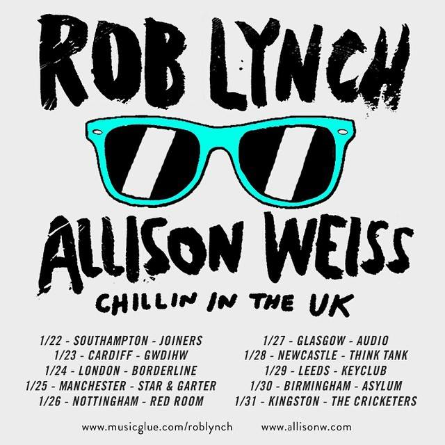 Rob Lynch and Allison Weiss - Chillin in the UK tour - poster