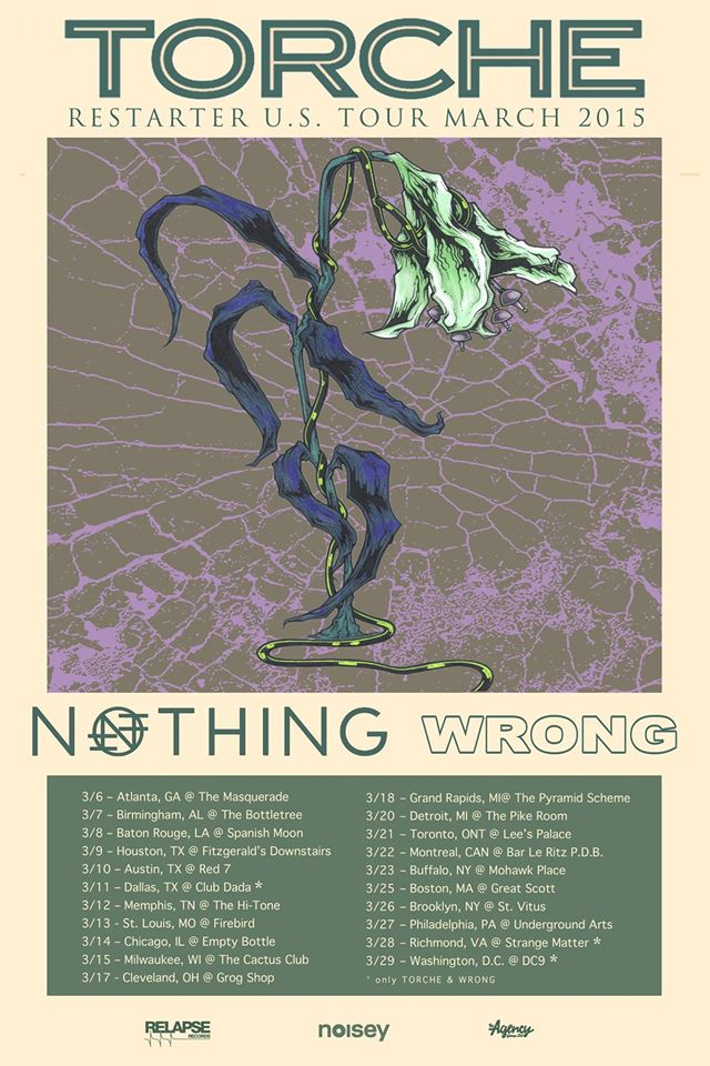Torche - North Amercian Tour March 2015 - poster