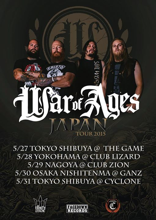 War Of Ages - Japan Tour 2015 - poster