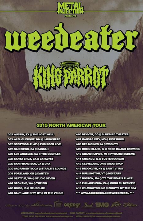 Weedeater - 2015 North American Tour - poster
