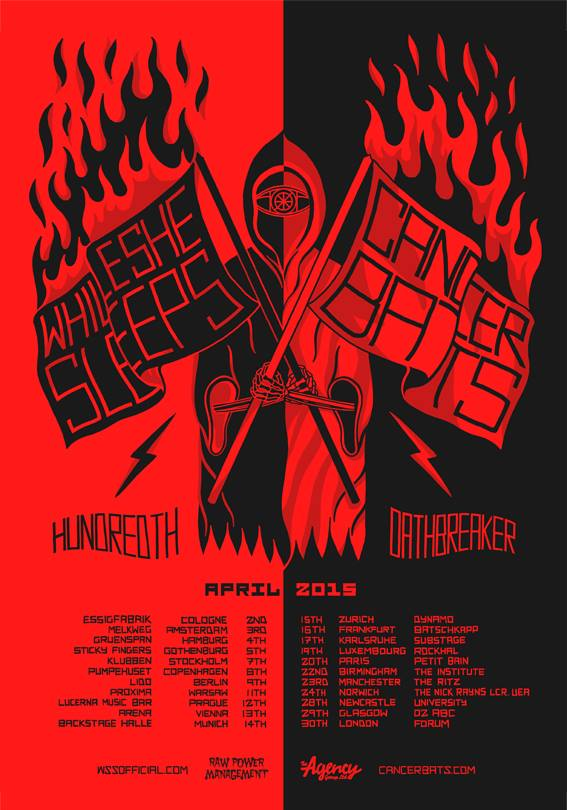 Cancer-Bats-While-She-Sleeps-European-Tour-poster