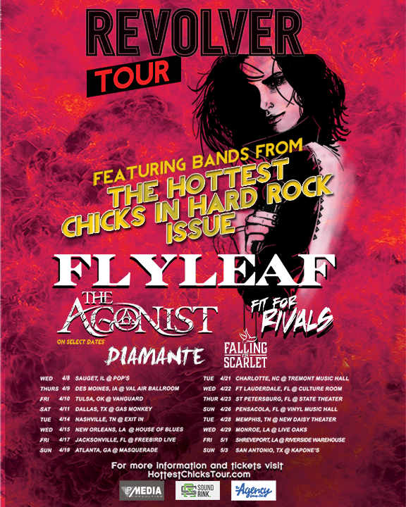 Flyleaf - Revolver Hottest Chicks In Hard Rock Tour - poster