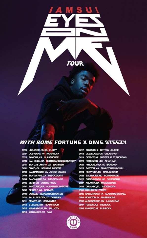 Iamsu - Eyes On Me Tour - poster