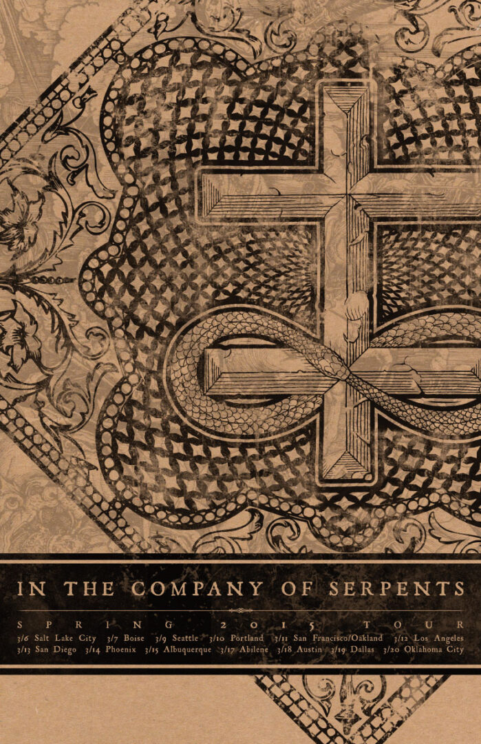 In The Company Of Serpents - West Coast Tour - 2015 - Poster