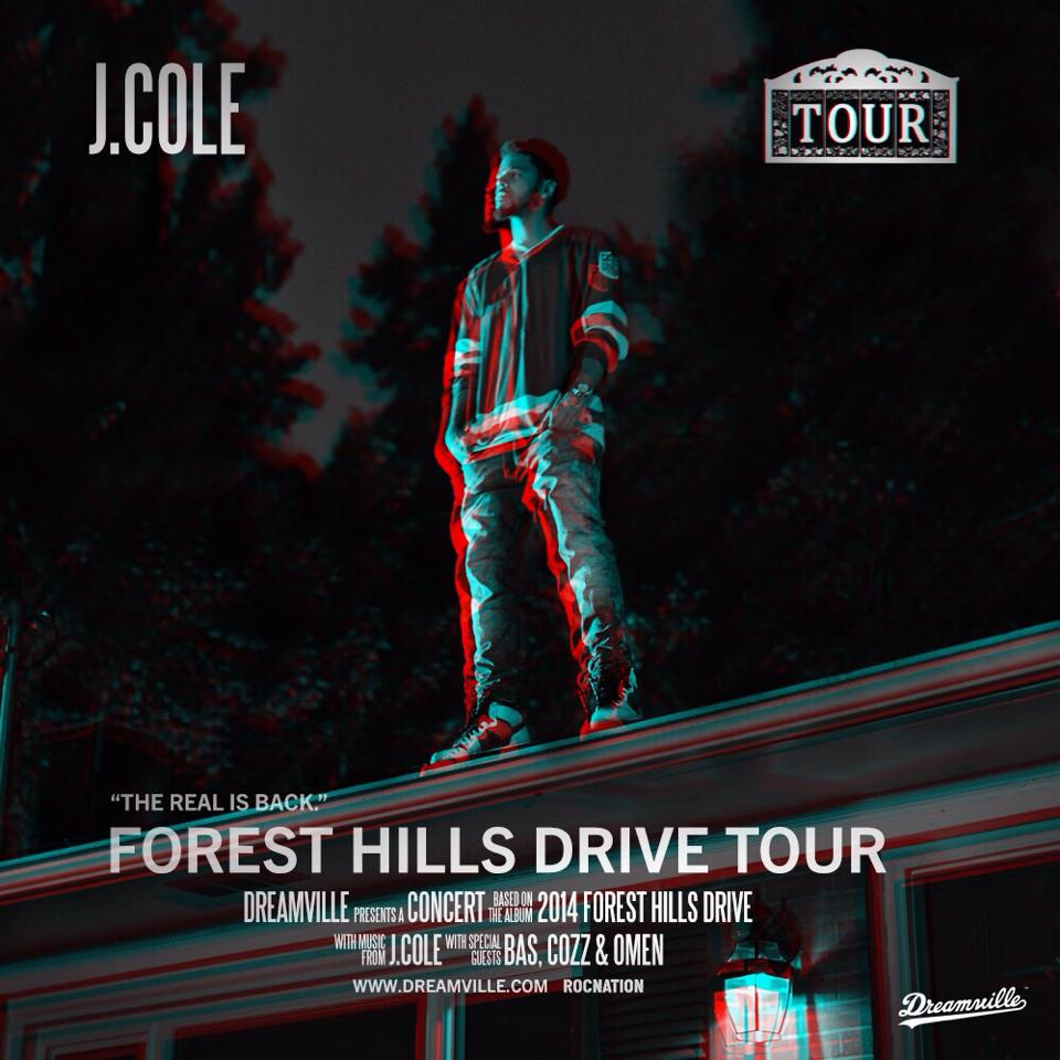 J-Cole-Forest-Hills-Drive-Tour-poster