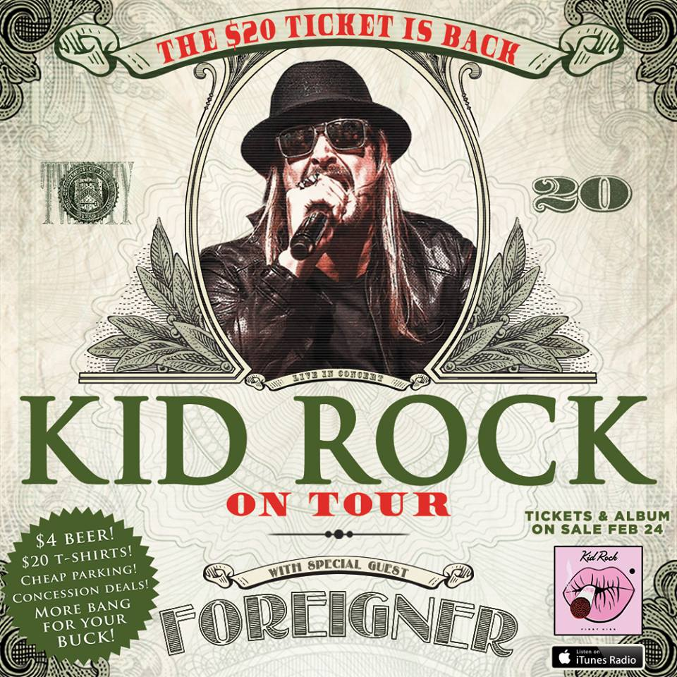 Kid Rock - Summer North American Tour - poster