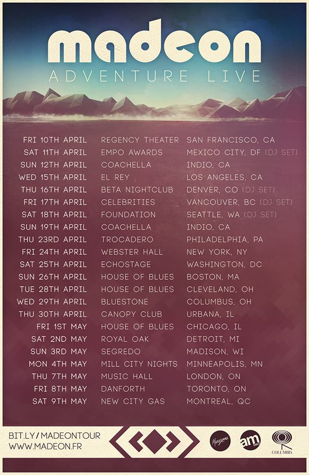 Madeon - Adventure Live Tour - poster