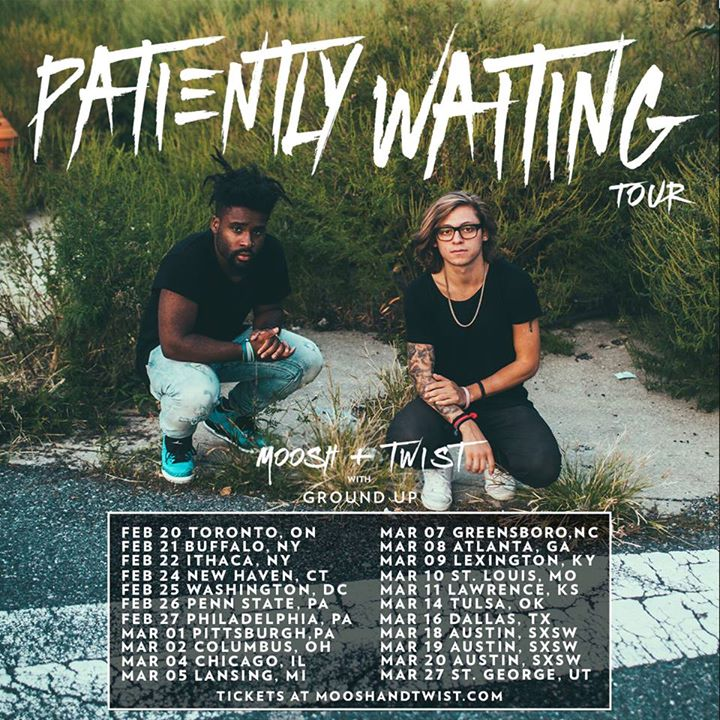 Moosh & Twist - Patiently Waiting Tour - poster