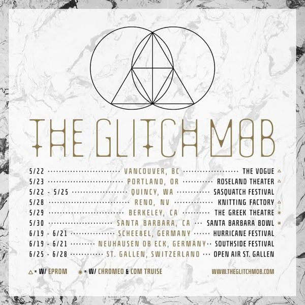 The Glitch Mob - North American & European Tour - poster