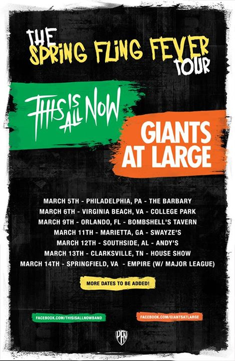 This Is All Now - Spring Flig Fever Tour- 2015 - Poster
