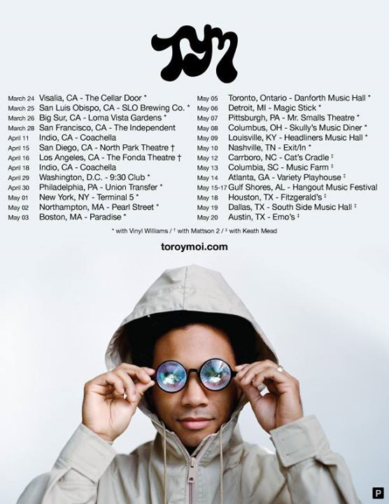 Toro y Moi - North American Tour - poster