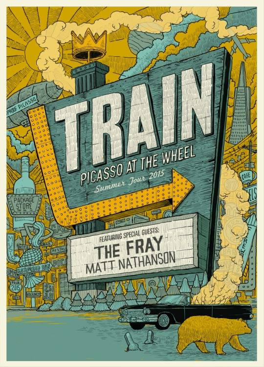 Train - Picasso At The Wheel Summer Tour - poster