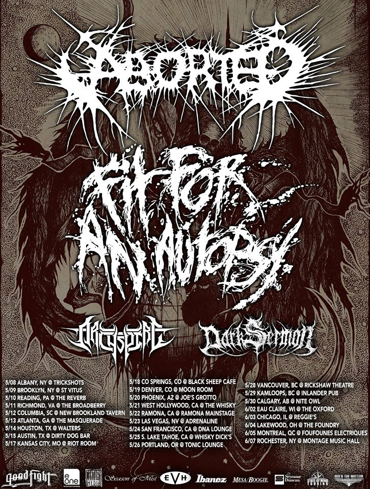 Aborted - Co-headlining Tour With Fit For An Autopsy - poster